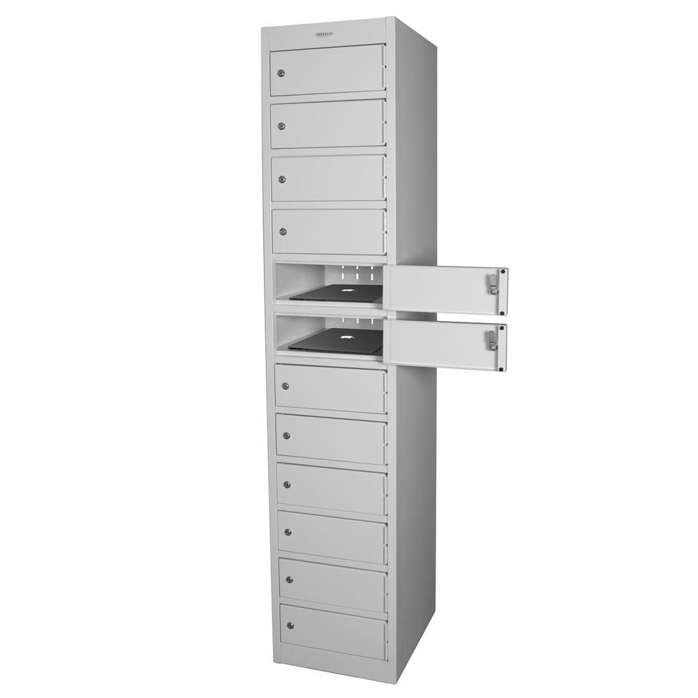 Steelco twelve door laptop locker